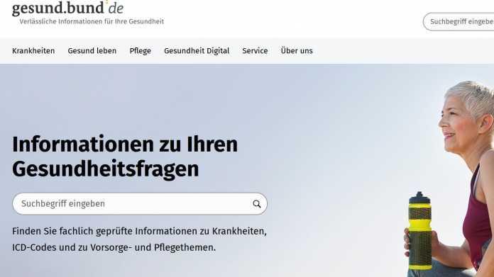 Info-Portal der Bundesregierung für Gesundheitsfragen gestartet