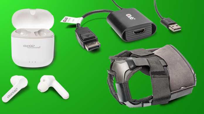 Kurztest: DisplayPort-HDMI-Adapter, In-Ear-Headset und Polster für VR-Headset