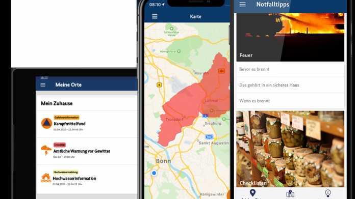 Staatliche Katastrophen-App NINA jetzt mit Corona-Infos