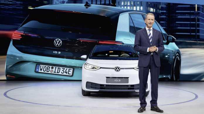 Herbert Diess auf der Premiere des VW ID.3