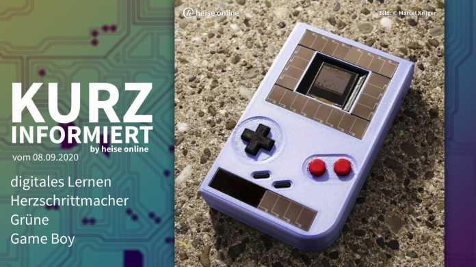 Kurz informiert: digitales Lernen, Herzschrittmacher, Grüne, Game Boy