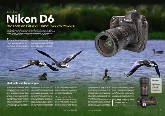 Die Nikon D6 stellt sich in der aktuellen Ausgabe einem Labor- und Praxistest.