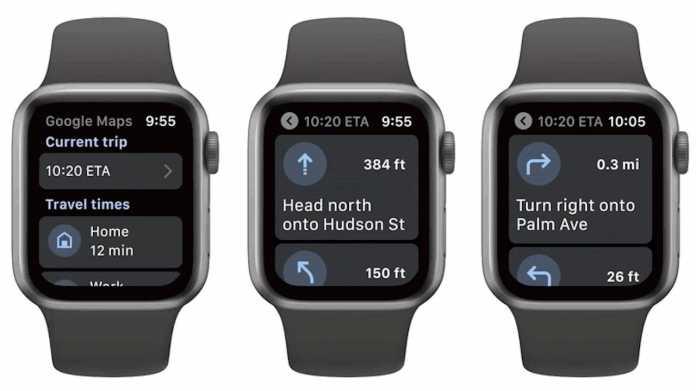 Google Maps für Apple Watch ist wieder da
