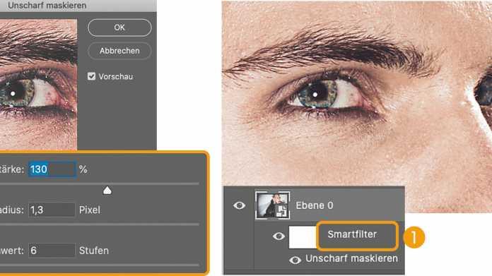 Photoshop-Workshop: Hohe Filtertechnik mit Smartobjekten