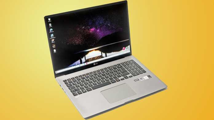 Leichtes Notebook LG Gram 17 mit großem 16:10-Bildschirm