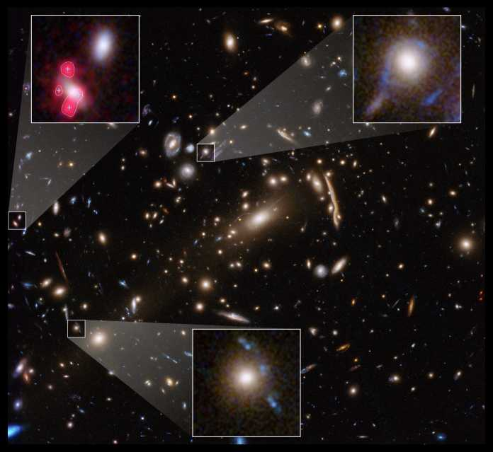 Eine gigantische Gravitationslinse und darin Hinweise auf kleinere – die stellen die Forscher nun vor Rätsel.