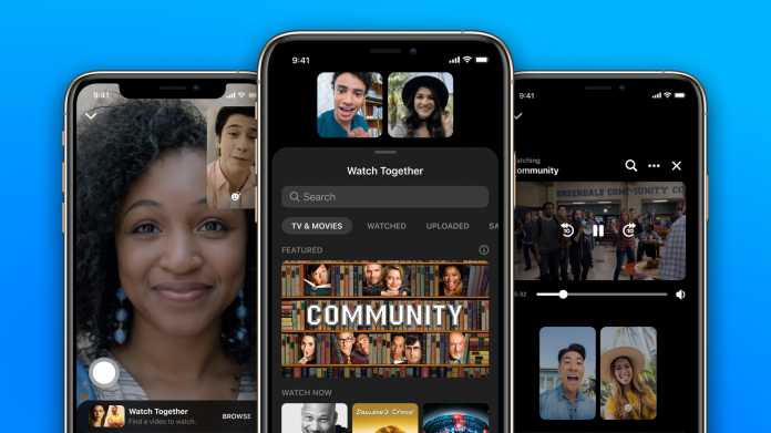 """Facebooks Messenger bekommt """"Watch-Together""""-Funktion"""