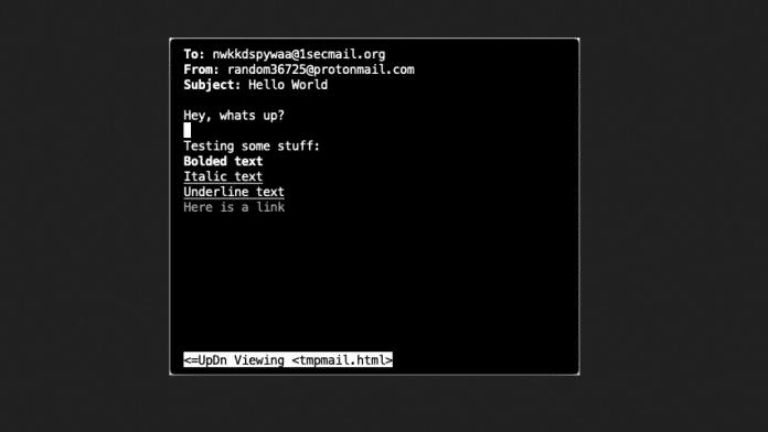 Temporäre Testmails direkt im Terminal