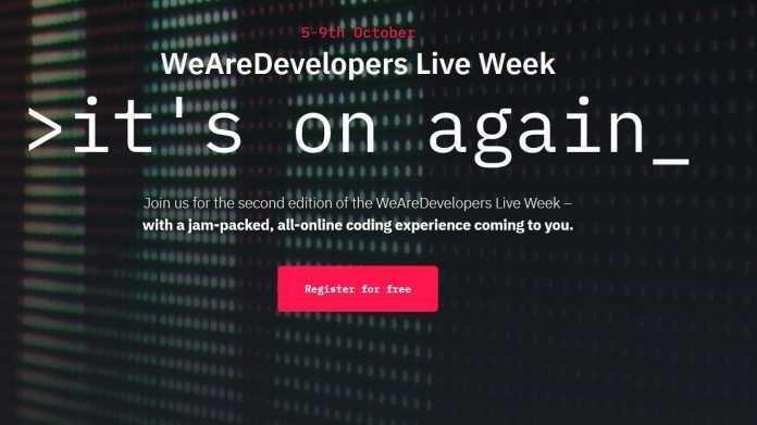WeAreDevelopers Live Week von 5. bis 9. Oktober mit Schweizer Fokus