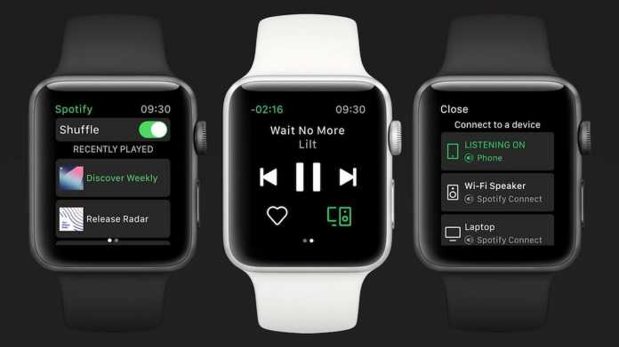 Spotify mit LTE-Streaming auf der Apple Watch
