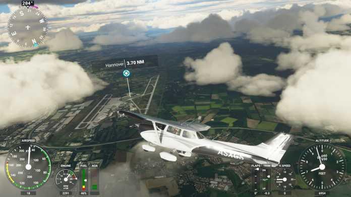 Komponenten-Auswahl für den Flight Simulator 2020