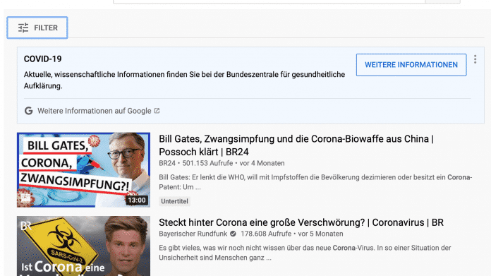 YouTube bringt Faktencheck-Funktion nach Deutschland