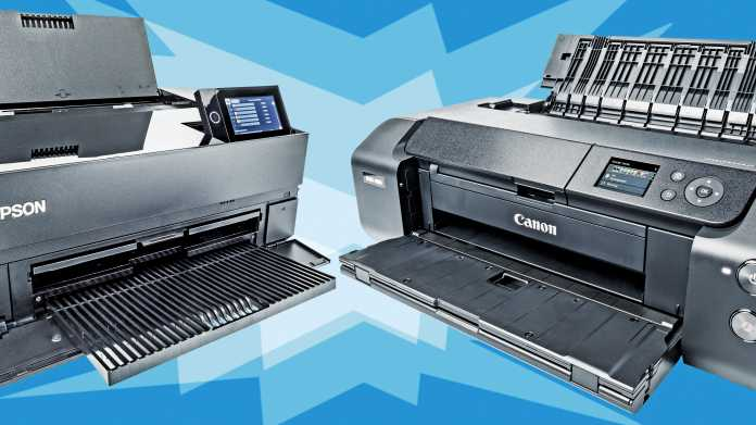 Zwei DIN-A3-Fotodrucker für Profis