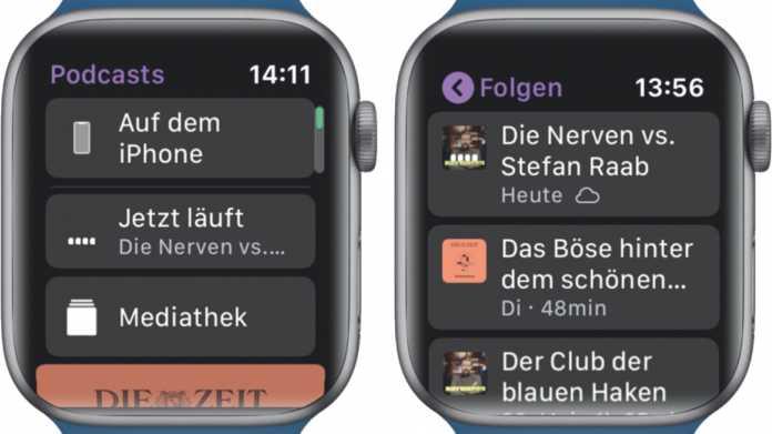 Tipp: Apple Watch stoppt Podcasts unerwartet