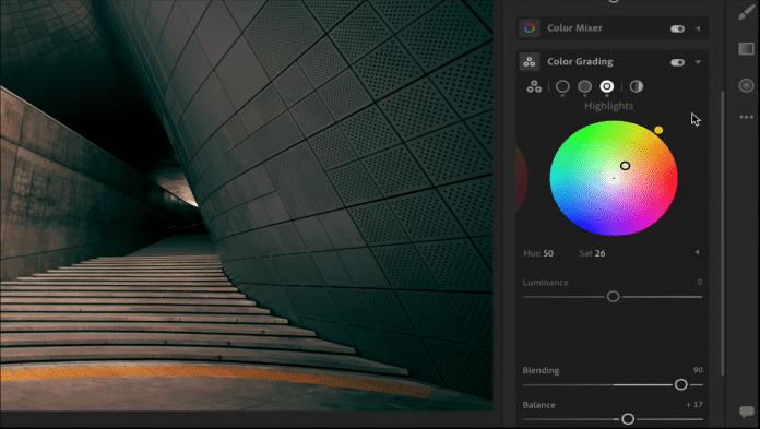 Die einzelnen Colorgading-Farbräder lassen sich für mehr Kontrolle vergrößern.