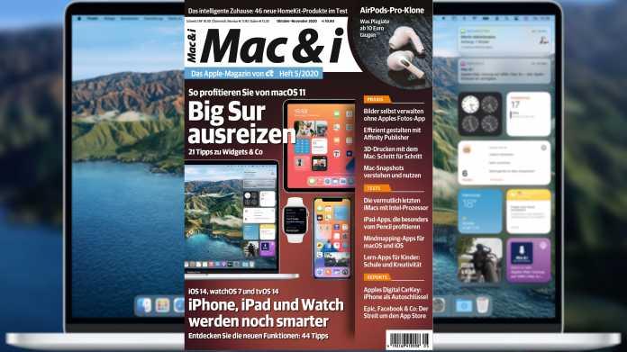 Mac & i Heft 5/2020 jetzt im Zeitschriftenhandel