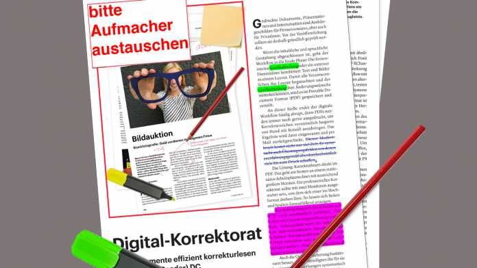 PDF-Dokumente effizient Korrektur lesen mit Acrobat (Reader) DC