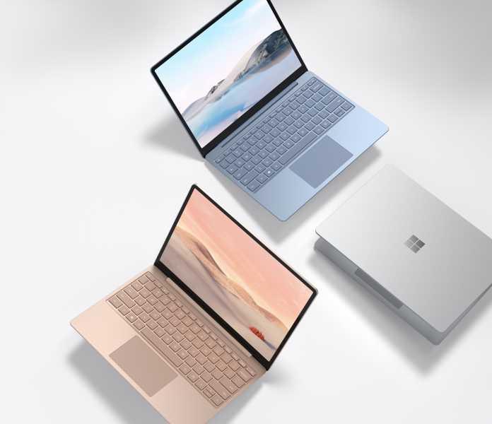 Microsoft verkauft den Surface Laptop Go in drei Gehäusefarben.