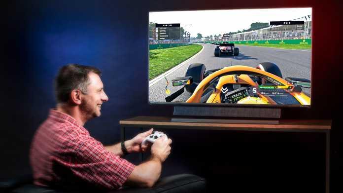 Fernseher und Großformat-Displays für Spieler