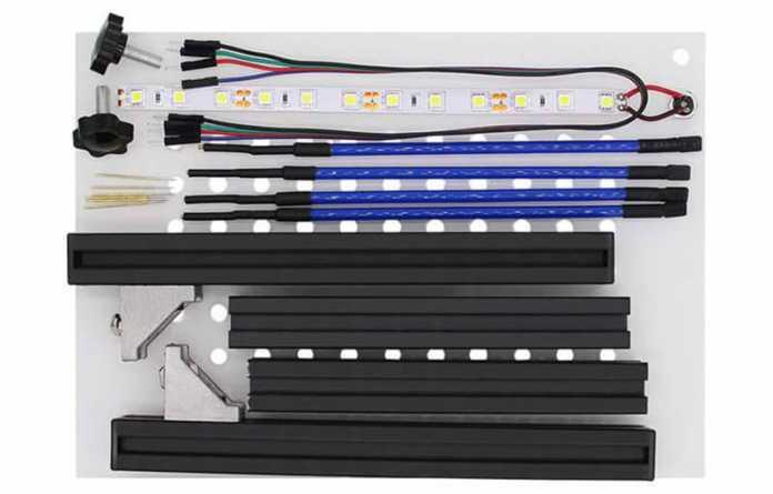 Der Bausatz des Messdieners enthält auch eine LED-Beleuchtung.