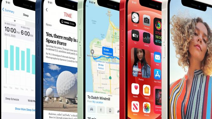 iPhone 12 mit OLED-Bildschirm und iPhone 12 Mini mit kleinerem Display