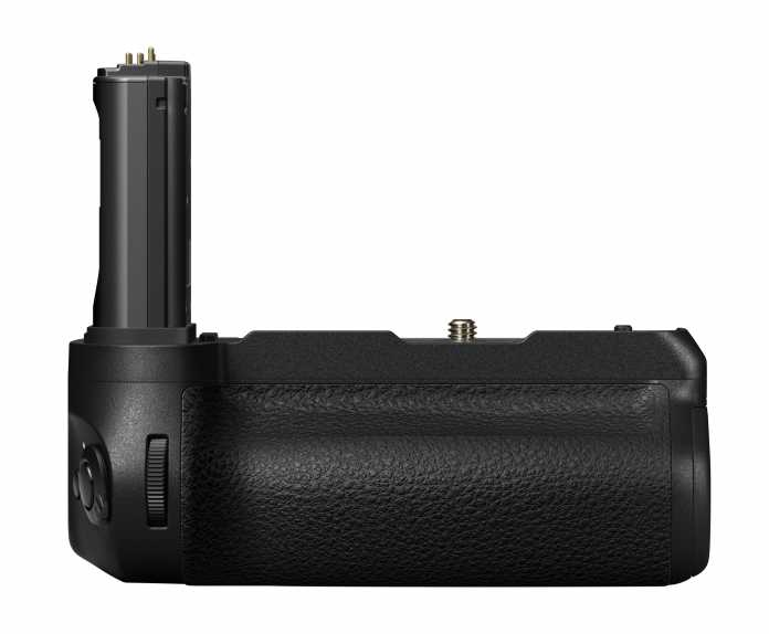 Mit der neuen Kamerageneration wird es auch einen echten Hochformatgriff geben. Dieser fasst zwei Akkus.