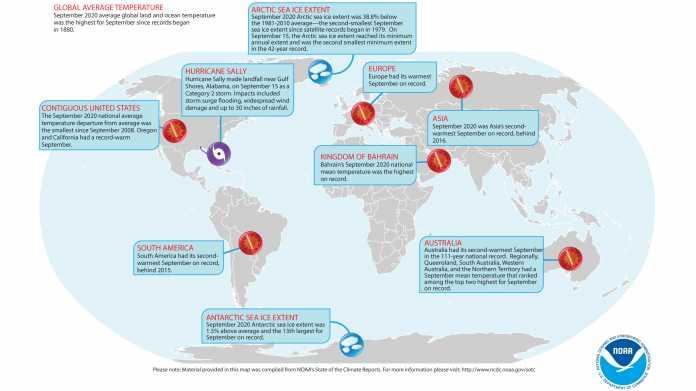 Klimawandel: Weltweit wärmster September seit Messungsbeginn 1880