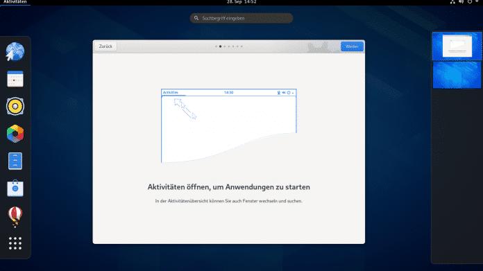 Linux-Desktopumgebung Gnome 3.38