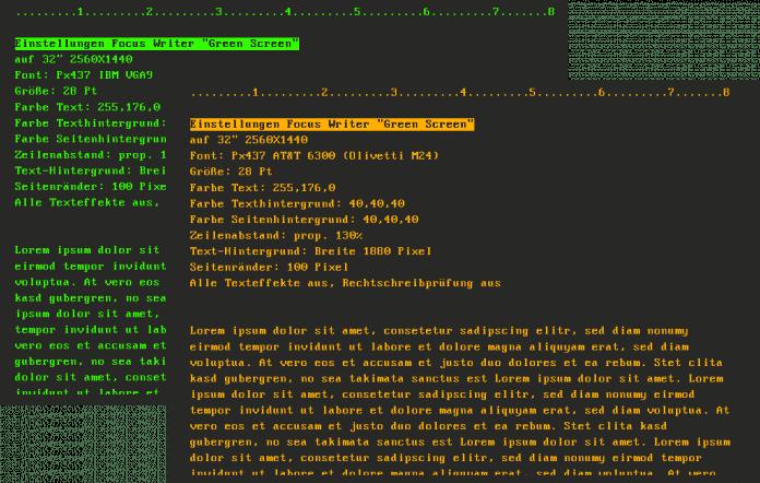 Ein Editor wie FocusWriter mit passenden Fonts und Farben kitzelt den Retro-Nerv, passt aber auch in moderne Workflows.