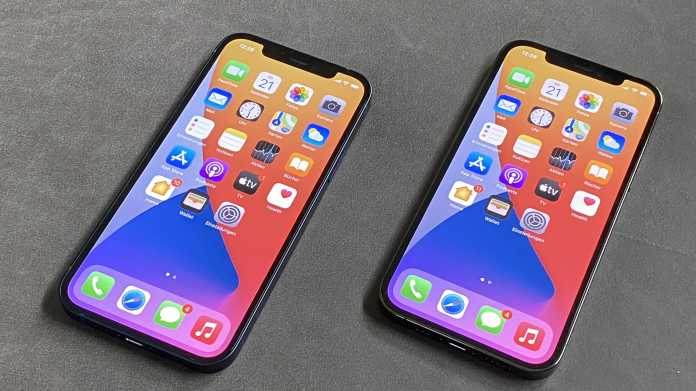 iPhone 12 neben iPhone 12 Pro