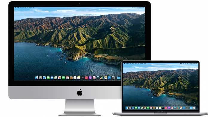 Zwei Macs mit Big Sur