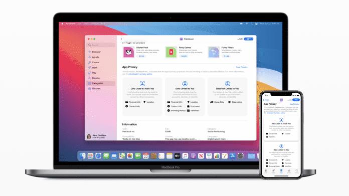 App Store Datenschutzkennzeichnung
