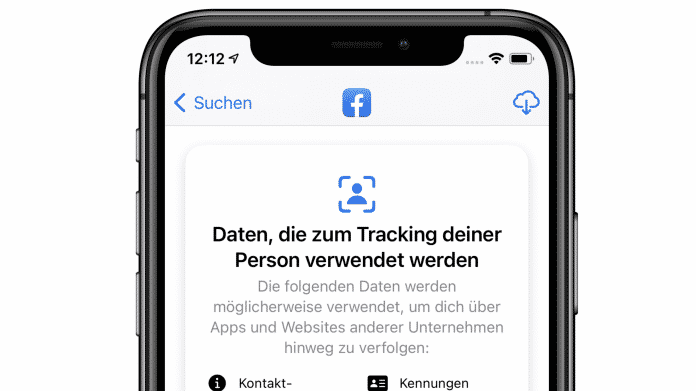 Datenschutz-Label in iOS 14.3