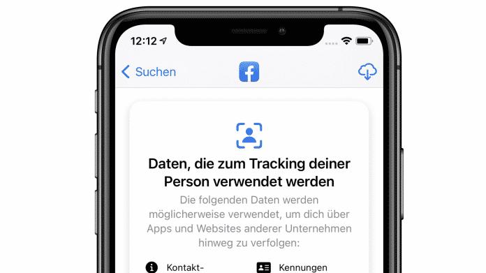 Datenschutzetikett in iOS 14.3