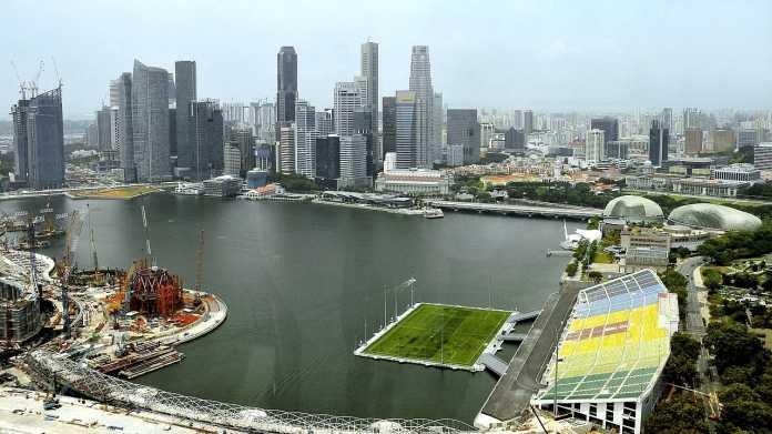 Skyline Singapur 2009