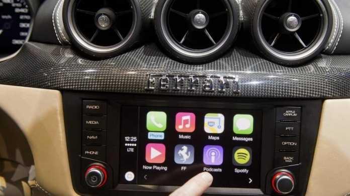 Ferrari mit Touchschreen