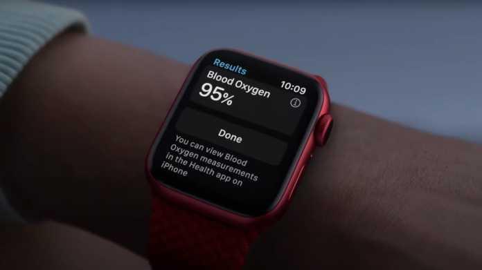 Blutsauerstoffsensor an Apple Watch Series 6