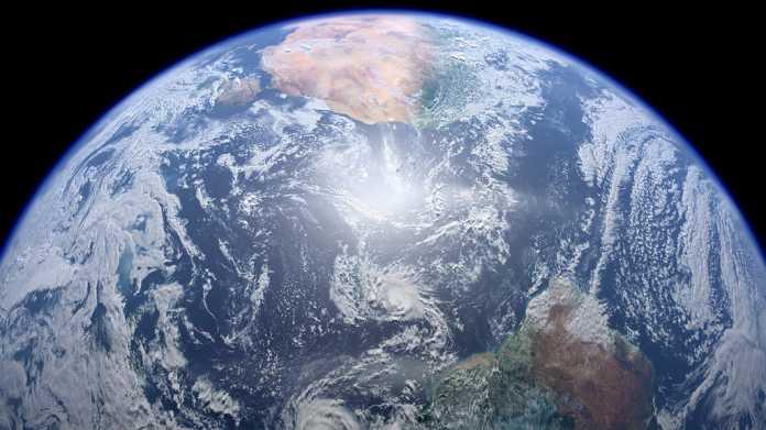 Erde aus dem All photographiert