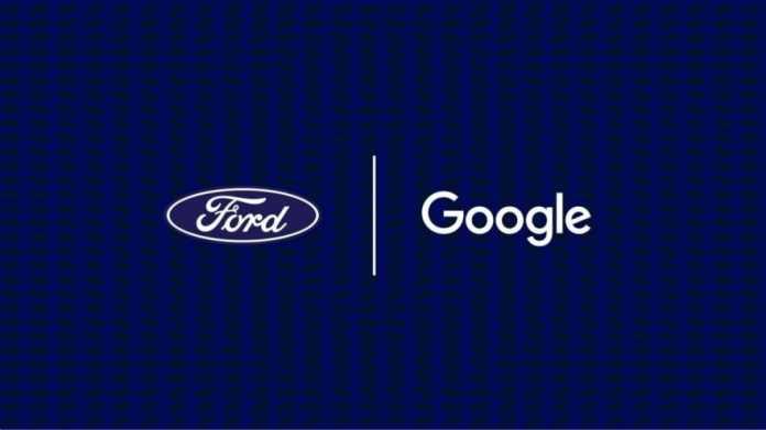 Logo Fords, Schriftzug Googles