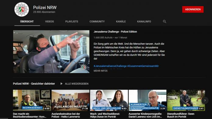 Youtube-Kanal Polizei NRW