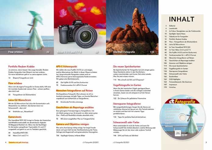 Inhaltsverzeichnis c't Fotografie 2/2021