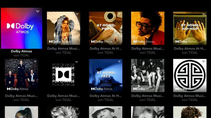 Dolby Atmos Music über Tidal