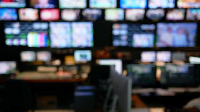 Abstract,Blurred,Of,Studio,At,Tv,Station.