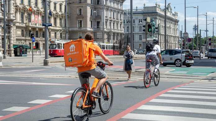 Lieferando-Fahrradkurier