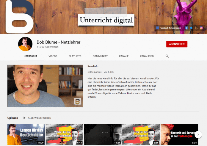 YouTube-Kanal Bob Blume