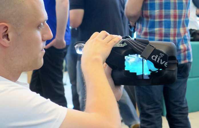 Stefan Welker hälte eine Dive vor die Kamera