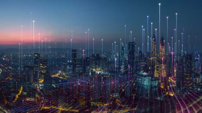 Smart,City,And,Abstract,Dot,Point,Connect,With,Gradient,Line