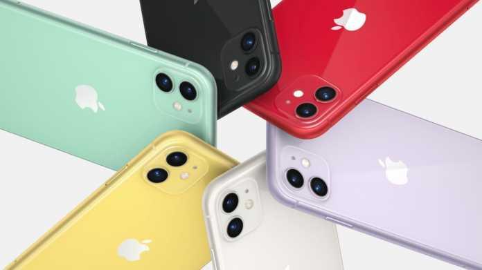 Das iPhone 11 in sechs Farben.