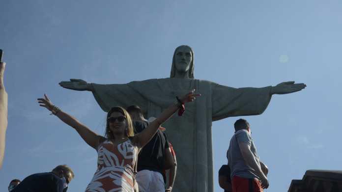 Die Christus-Statue in Rio de Janeiro