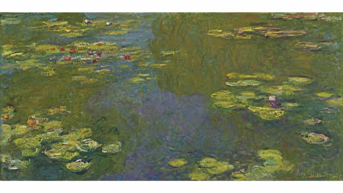 Ölgemälde eines Teichs